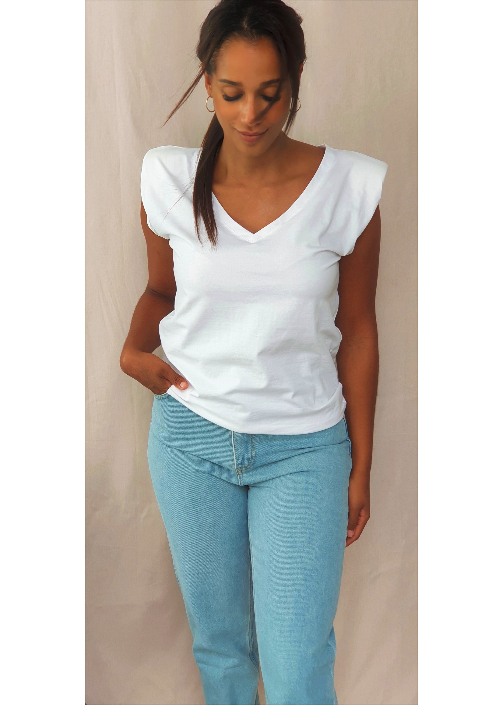 Padded white shirt