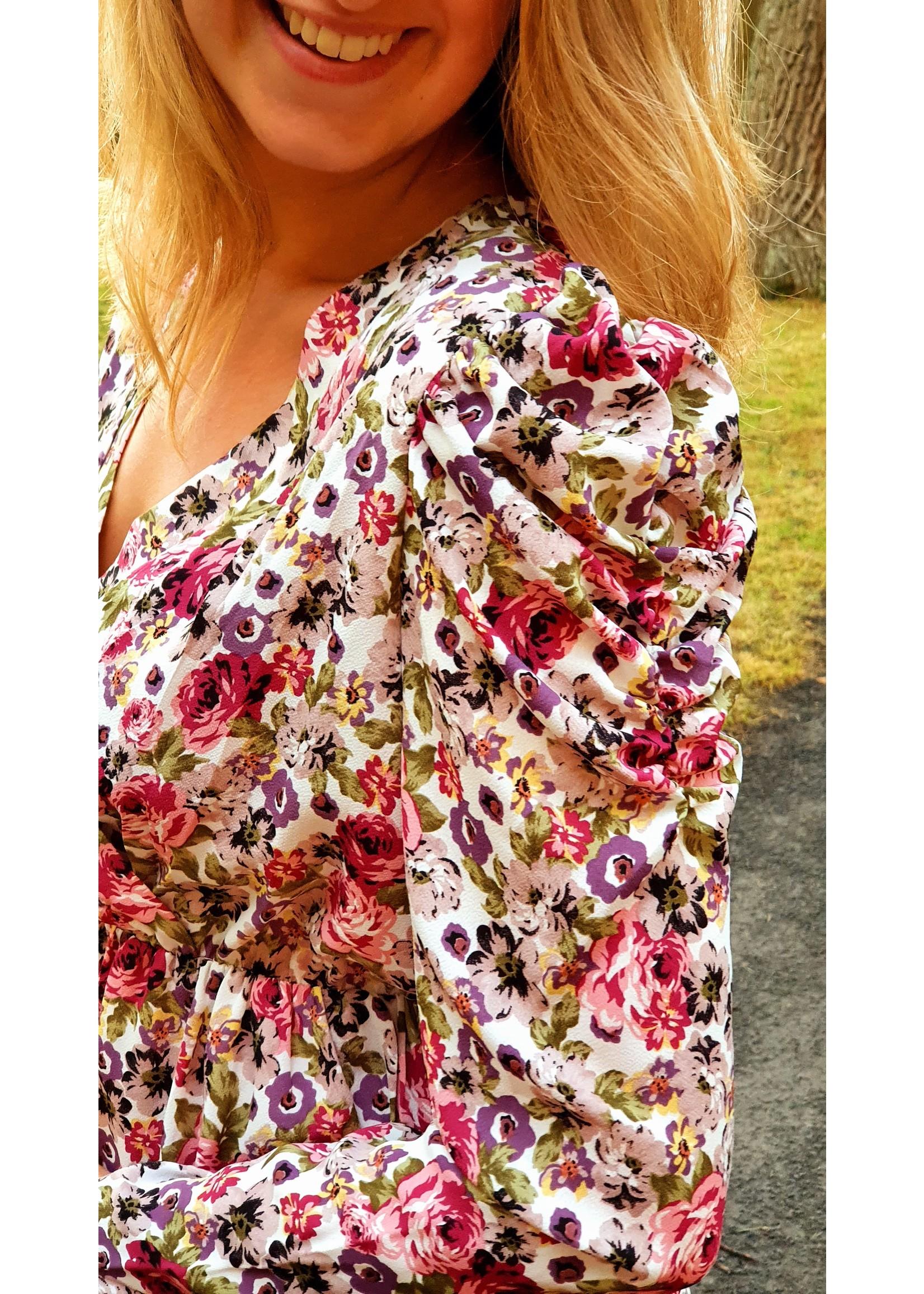 Short beige flowerdress