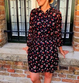 Cherry Paris Officiel Cherry black lila flower dress