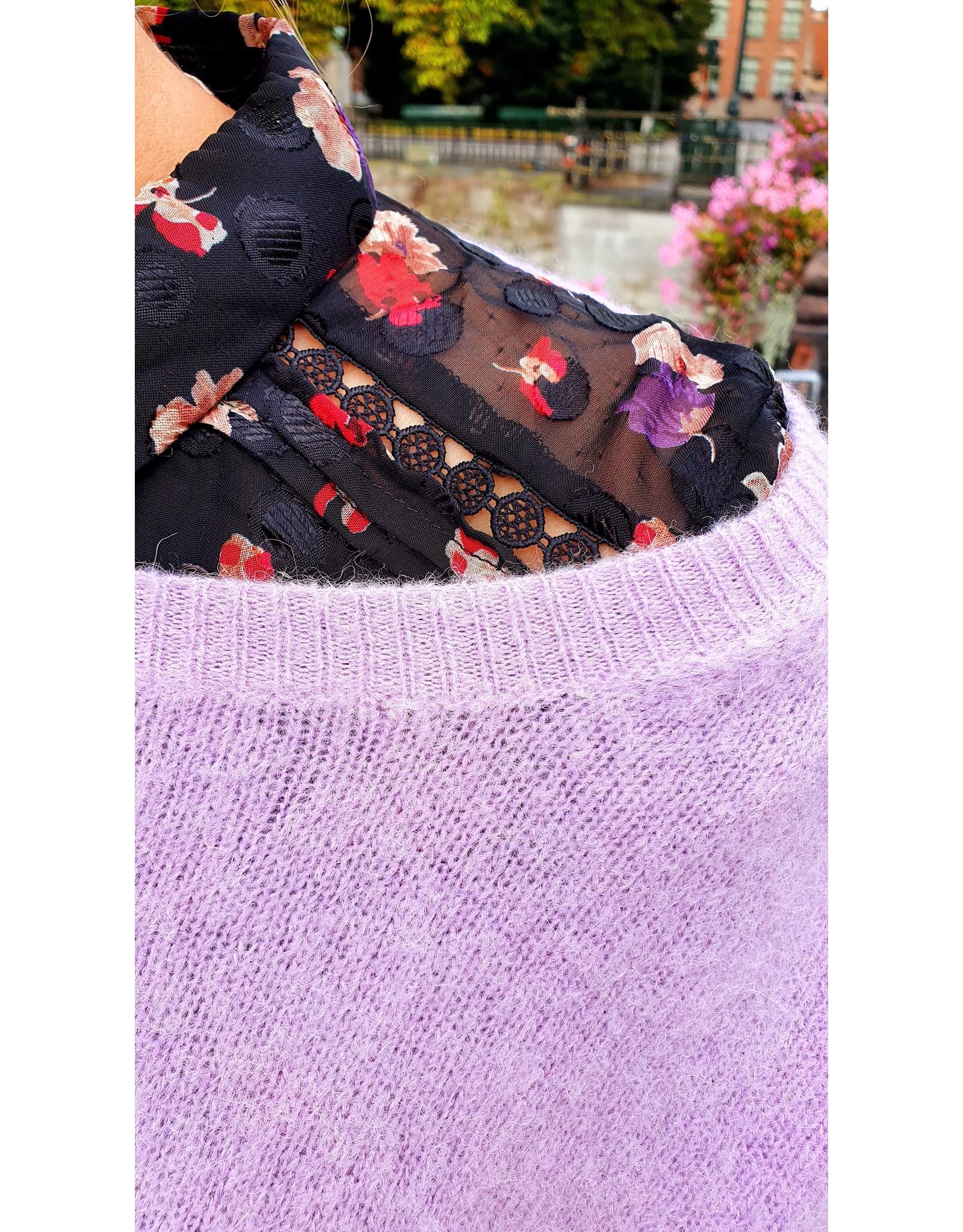 Cherry Paris Officiel Cherry black lila flower dress