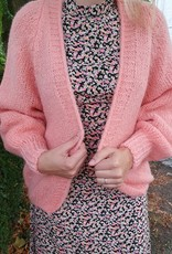 Peachy pink love cardigan