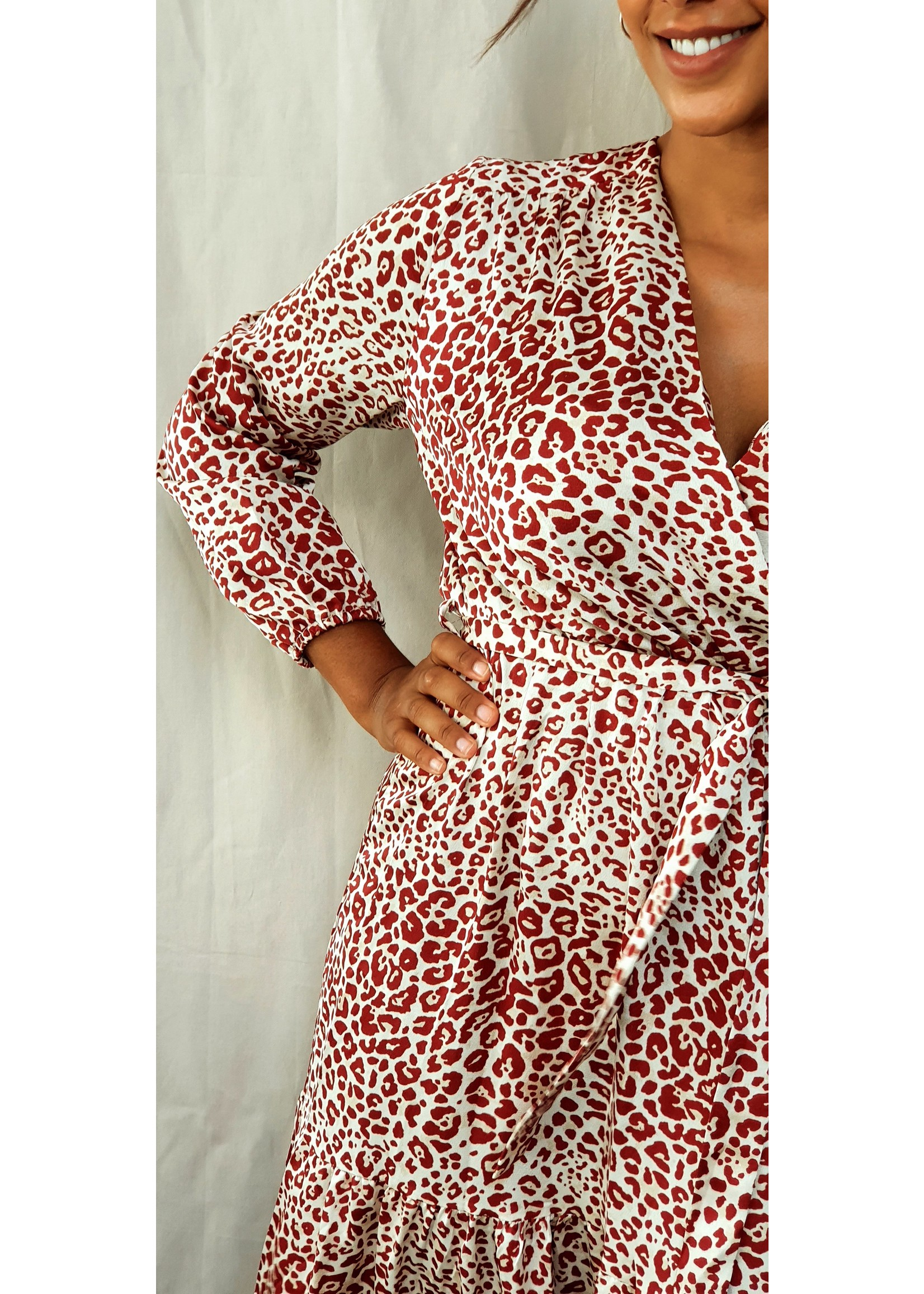 With A touch of leopard dress