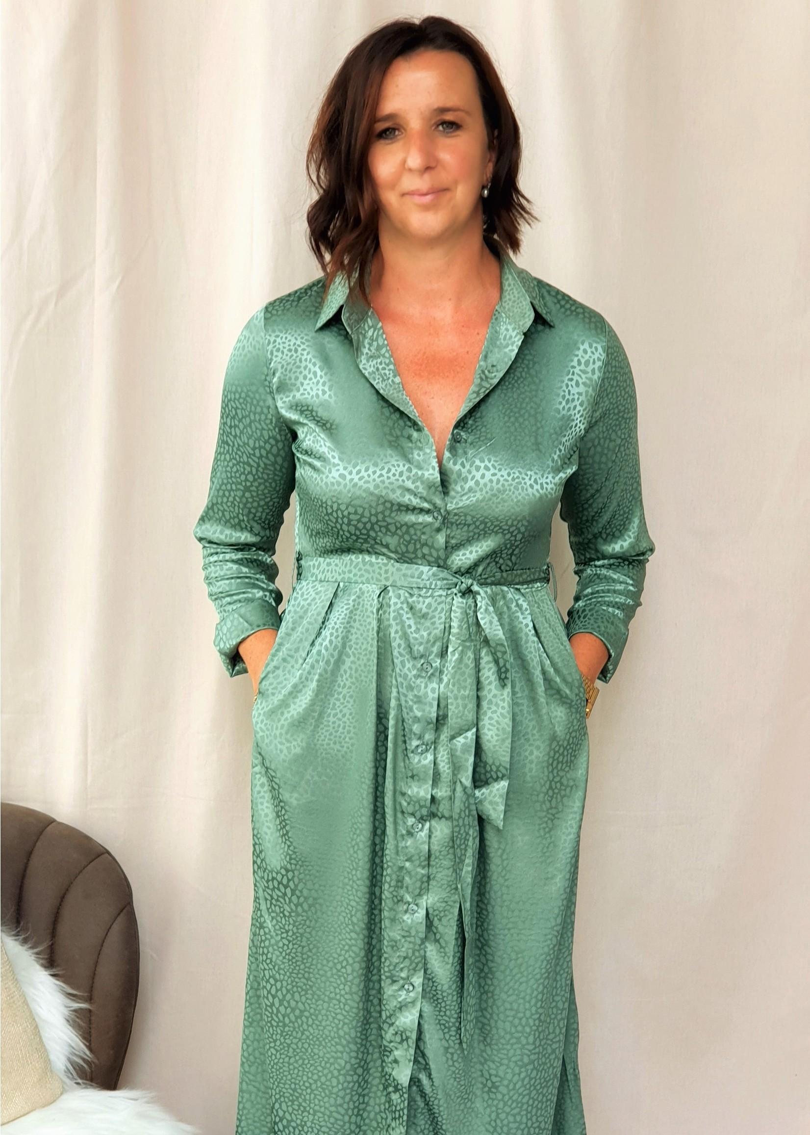 Green autumn dress