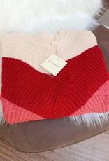 Cherry Paris Officiel Cherry roze stripe sweater