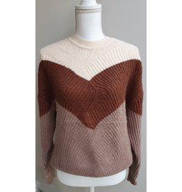 Cherry Paris Officiel Cherry marron stripes sweater