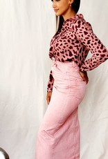 Pink autumn blouse