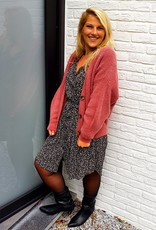 Mika Elles Old pink knitted cardigan