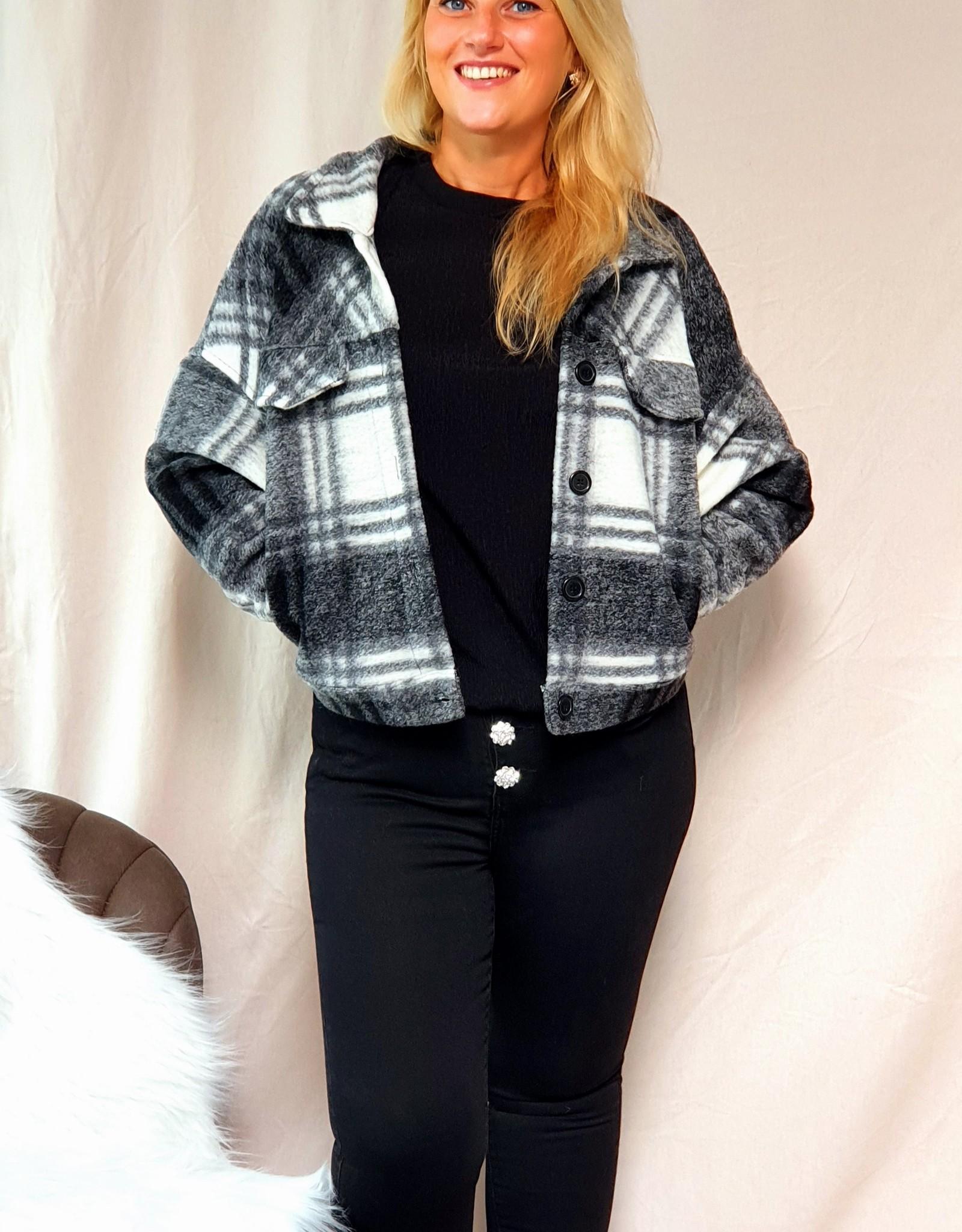 Black checked jacket