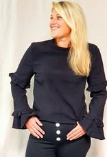 Lofty Manner Black ruffle blouse