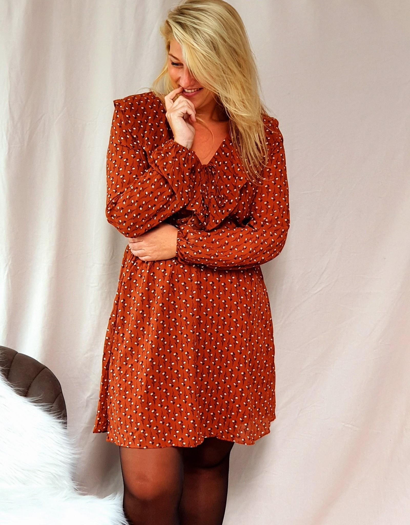 Lofty Manner Dress Giorgia brown