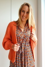 Soft orange love cardigan