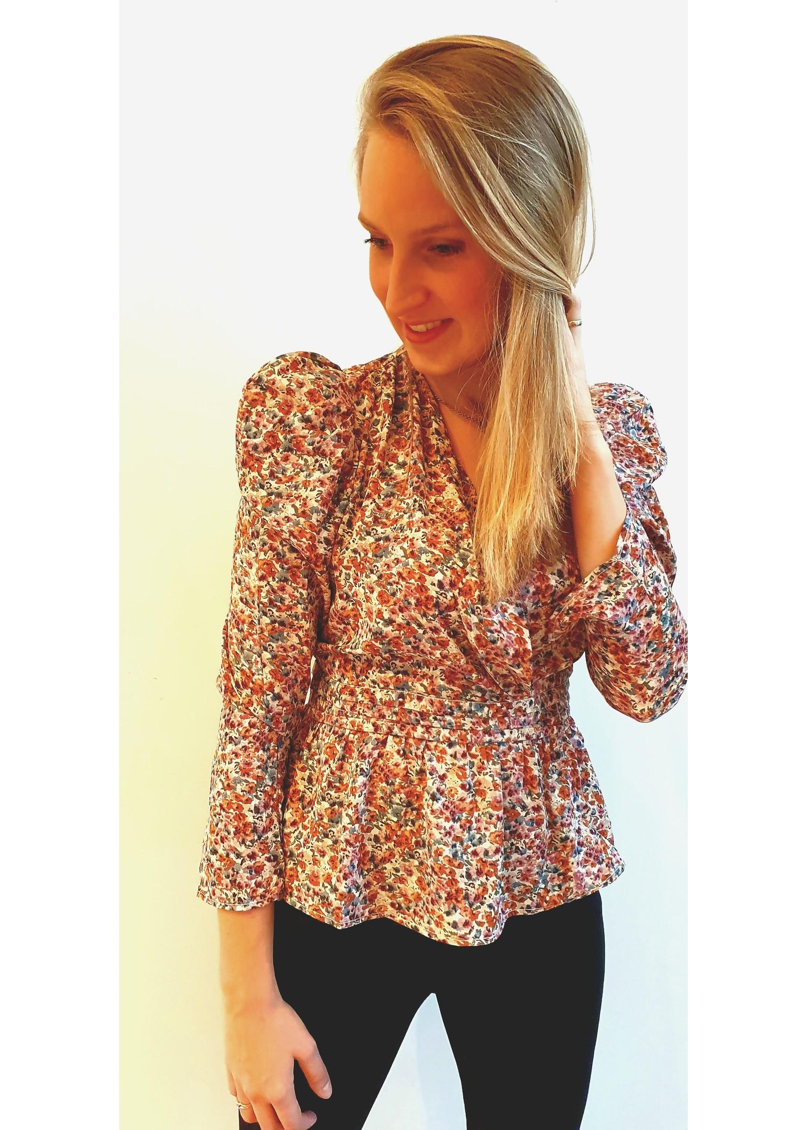 Autumn flower blouse
