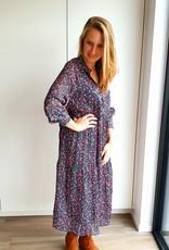 "Happy blue in ""autumn"" dress"