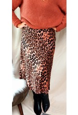 Satin pink leopard