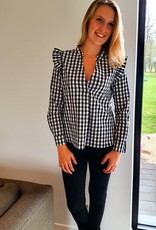 Black checked blouse