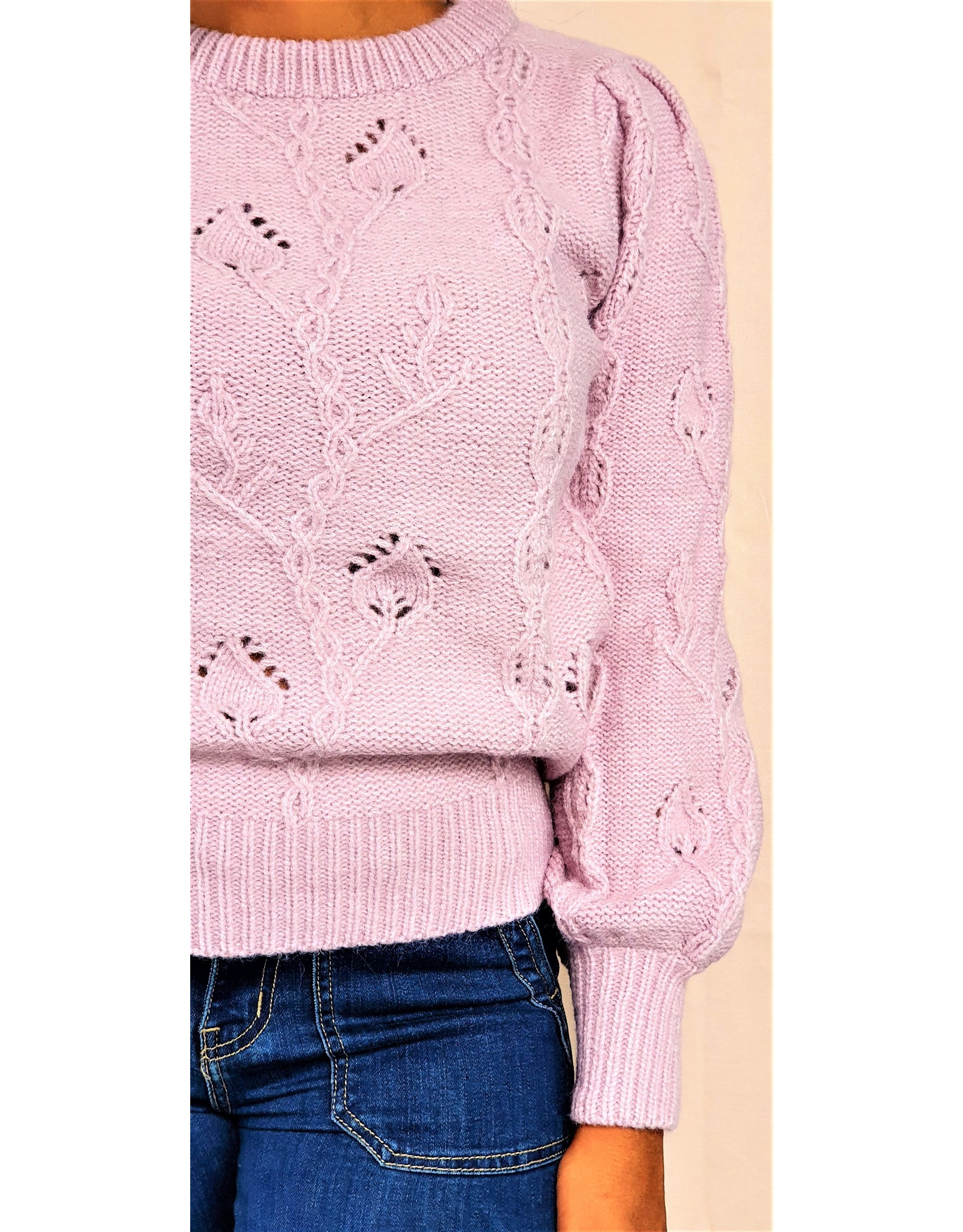 Cherry Paris Officiel Cherry mauve sweater