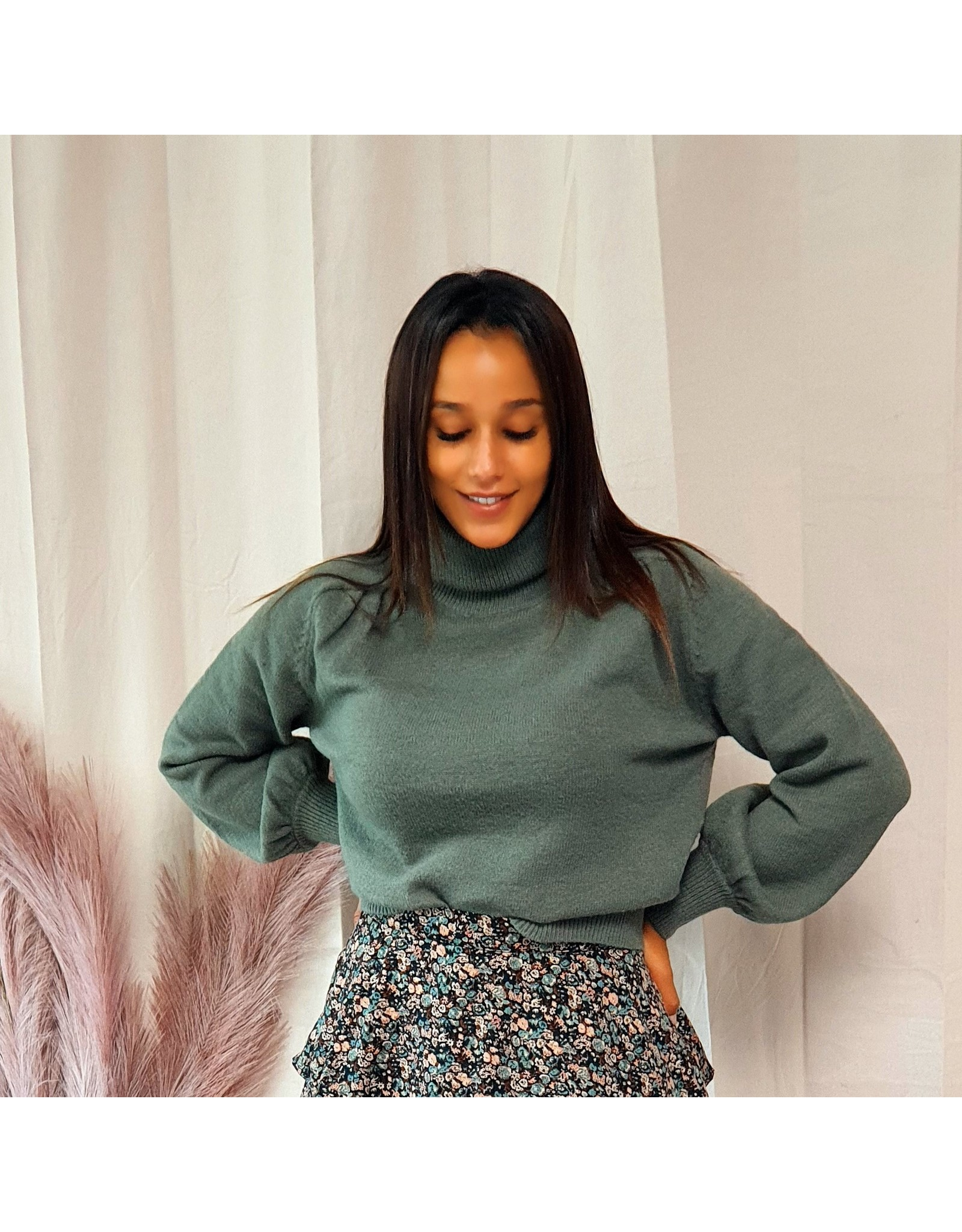 Ydence Knitted Sweater Pascalle Green