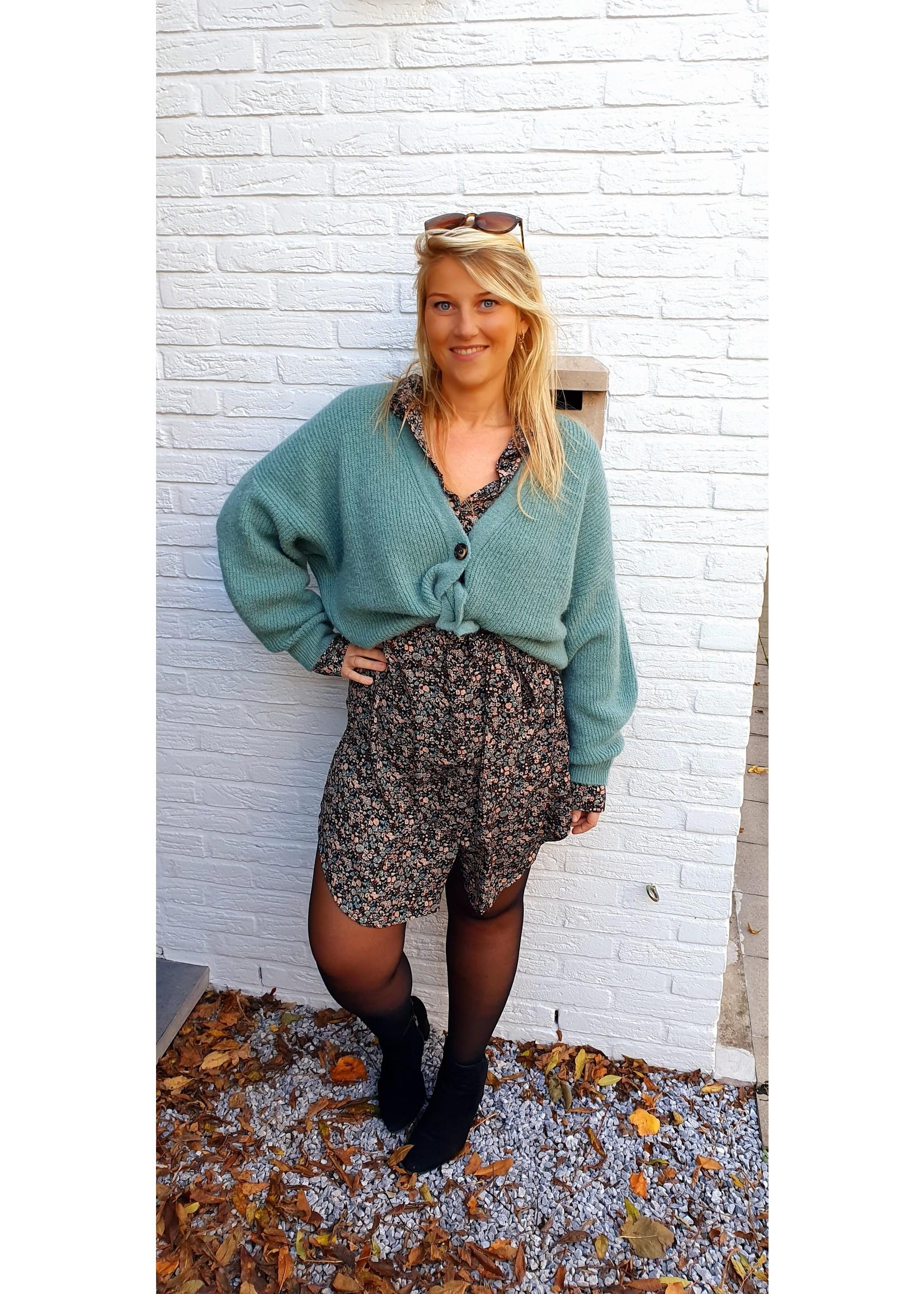 Lofty Manner Lofty Dress Holly blue - brown