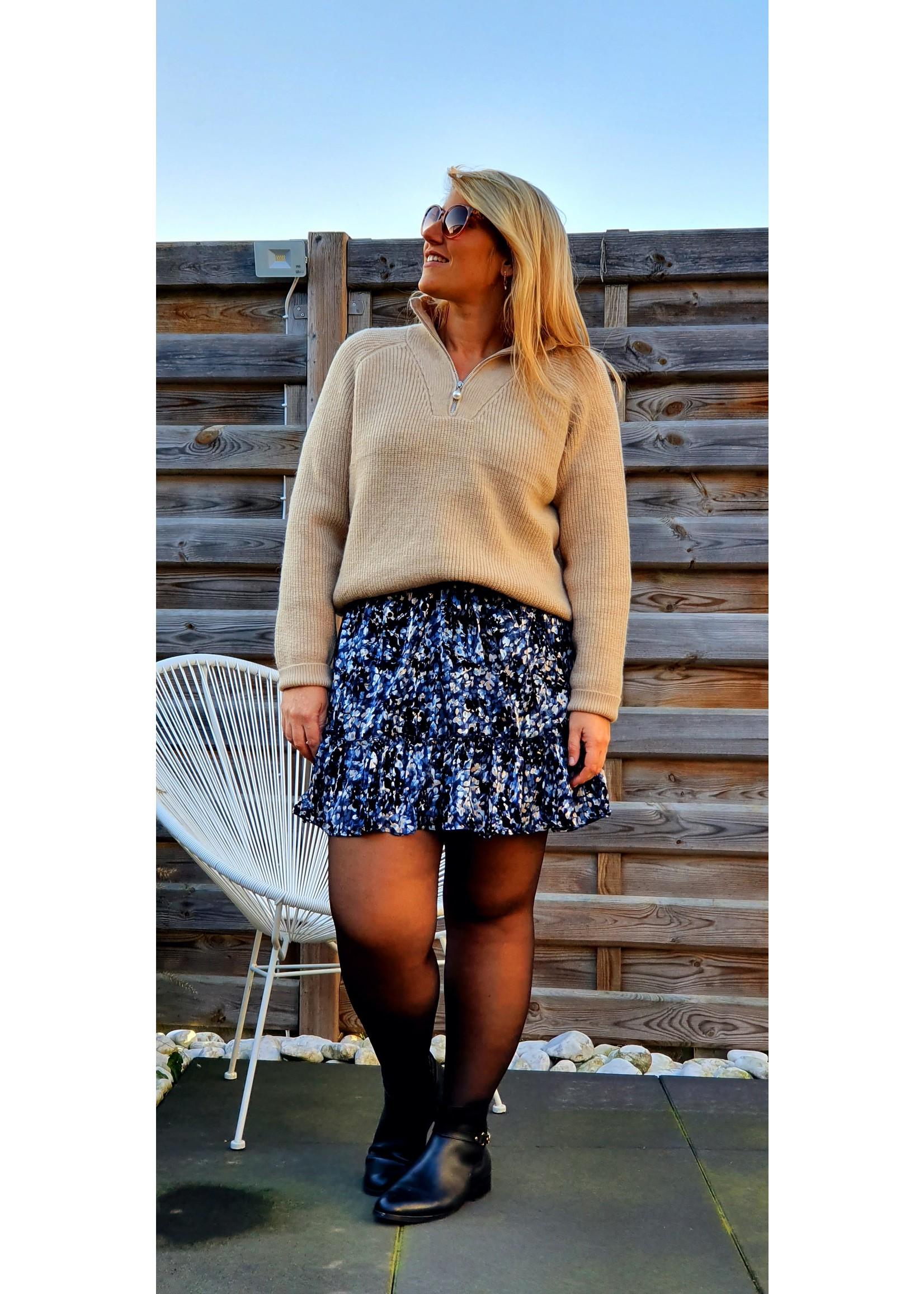 Dress Short velvet blue
