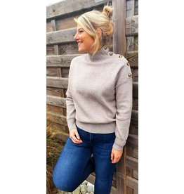 Taupe classy knitwear