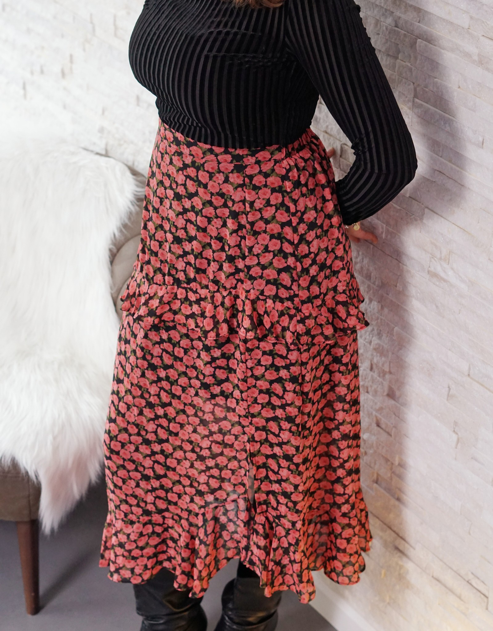 Skirt Heidi red flower