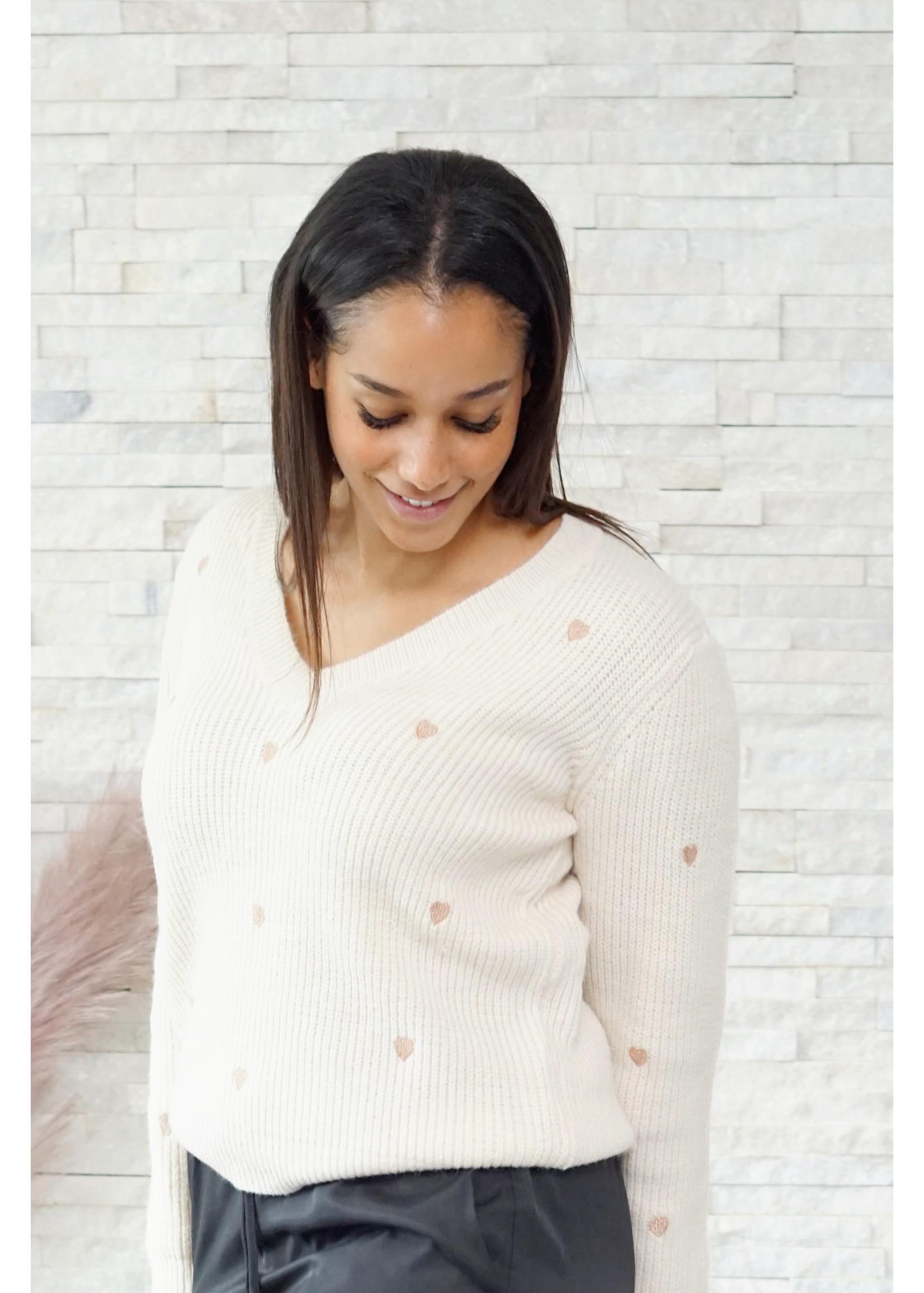 Cherry Paris Officiel Love beige sweater