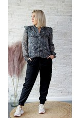 Cherry Paris Officiel Blue and leopard blouse