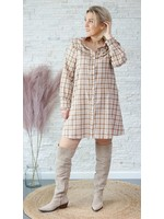 Cherry paris checked dress