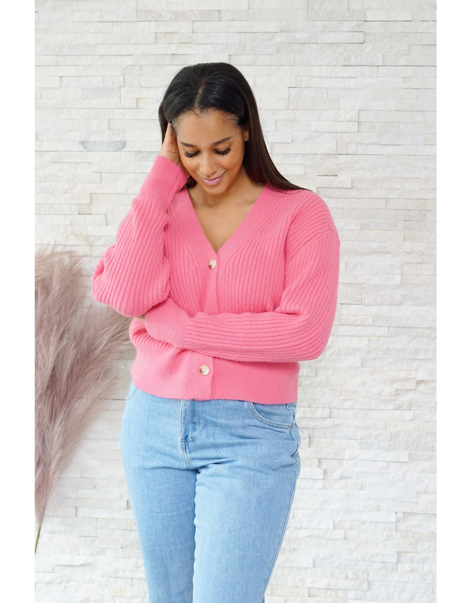 Cute cardigan  pink
