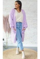 Long soft lila cardigan