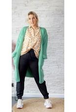 Long soft green cardigan