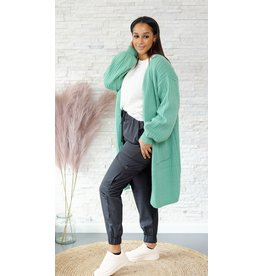 Long soft green cardigan