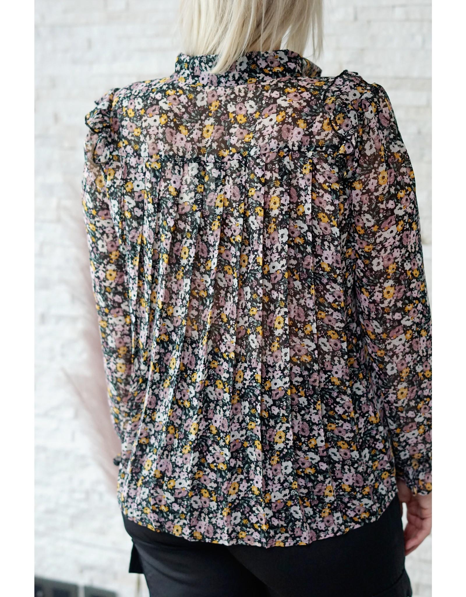 Cherry Paris Officiel Cherry lila flower blouse