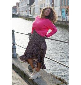Mika Elles Fuchsia pink love sweater