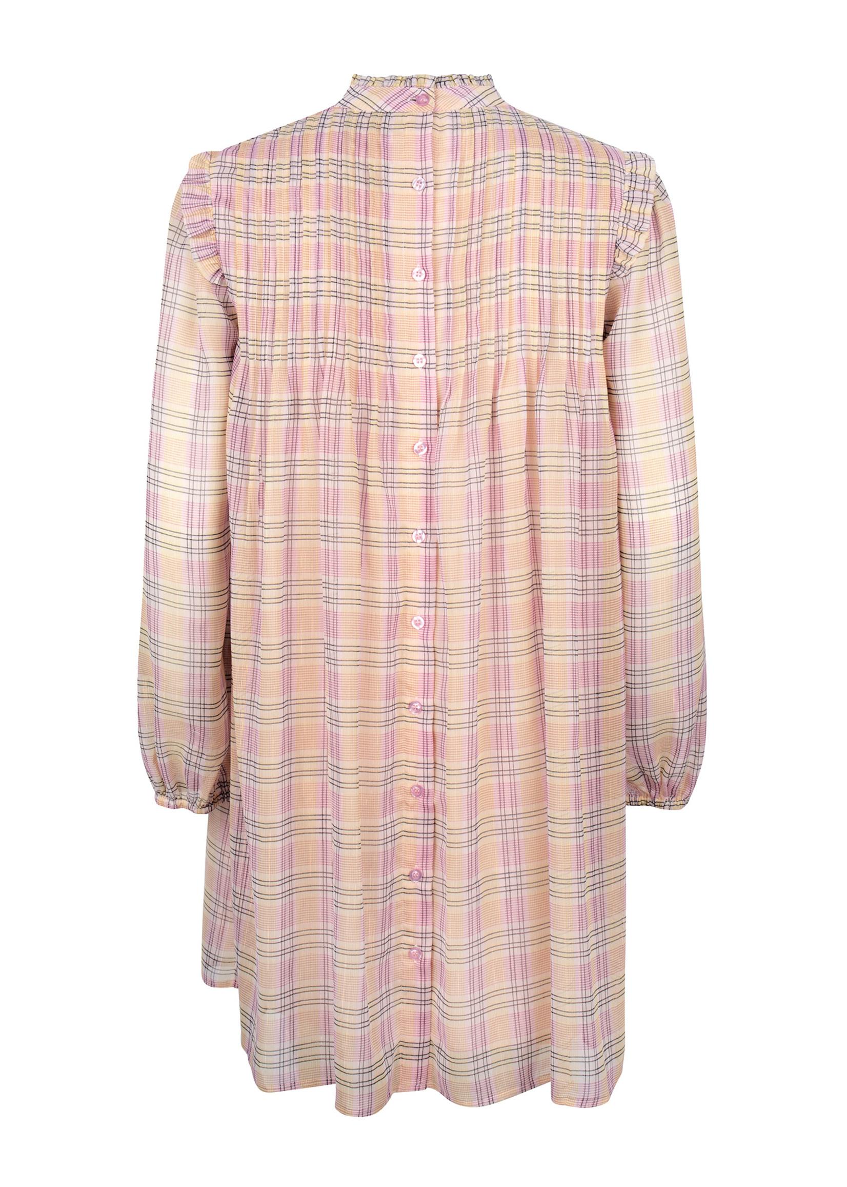 Ydence Jurk Celine pink check