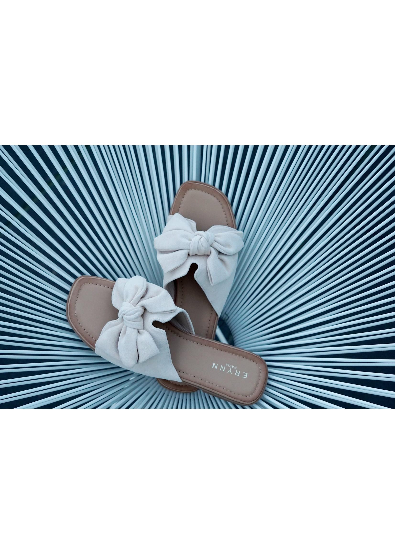 Slipper beige bow