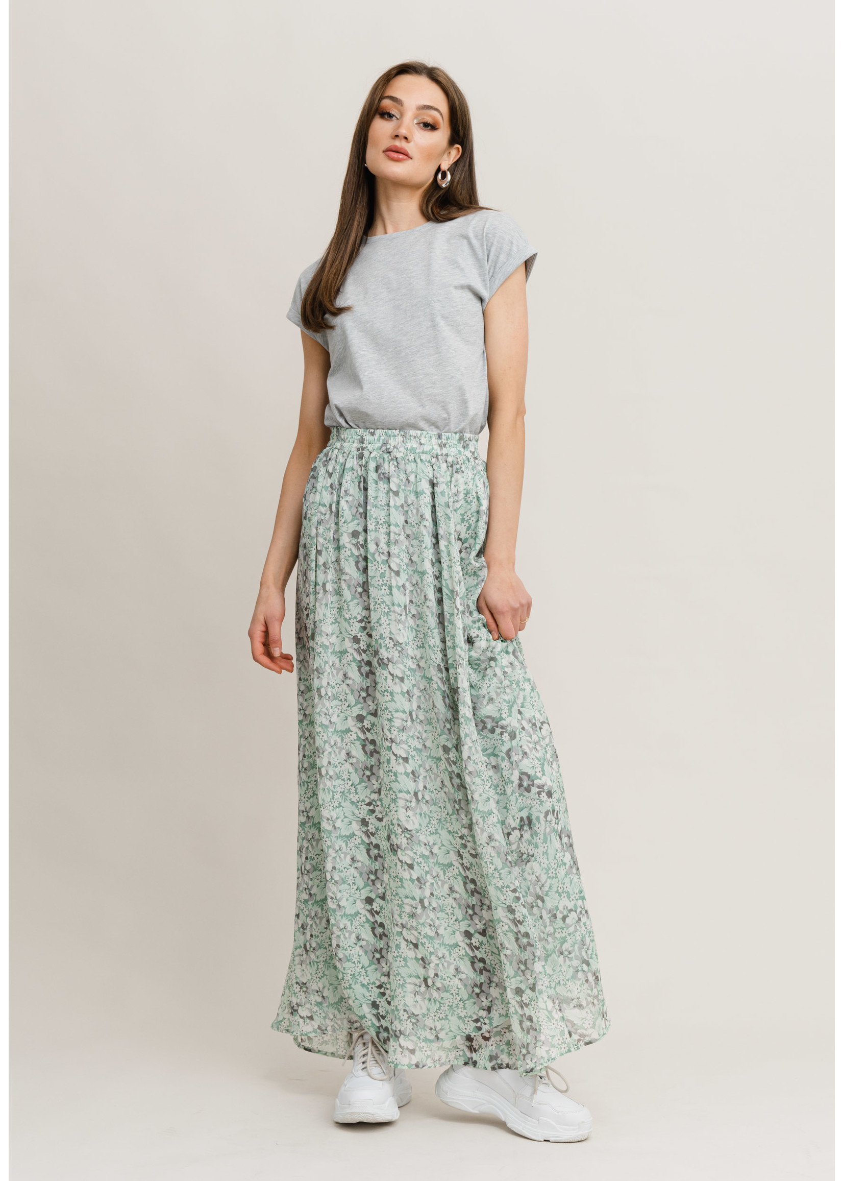 Rutandcircle Skirt sienna mint flower