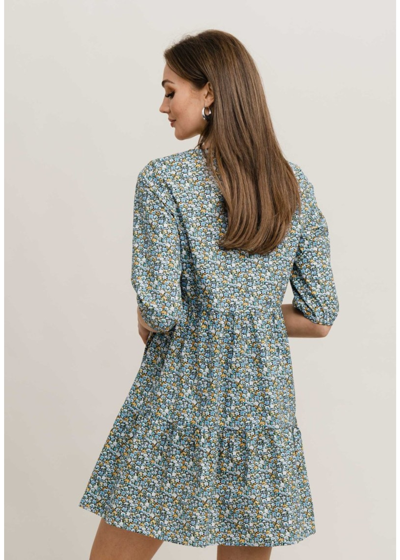 Rutandcircle Dress Luna blue flower