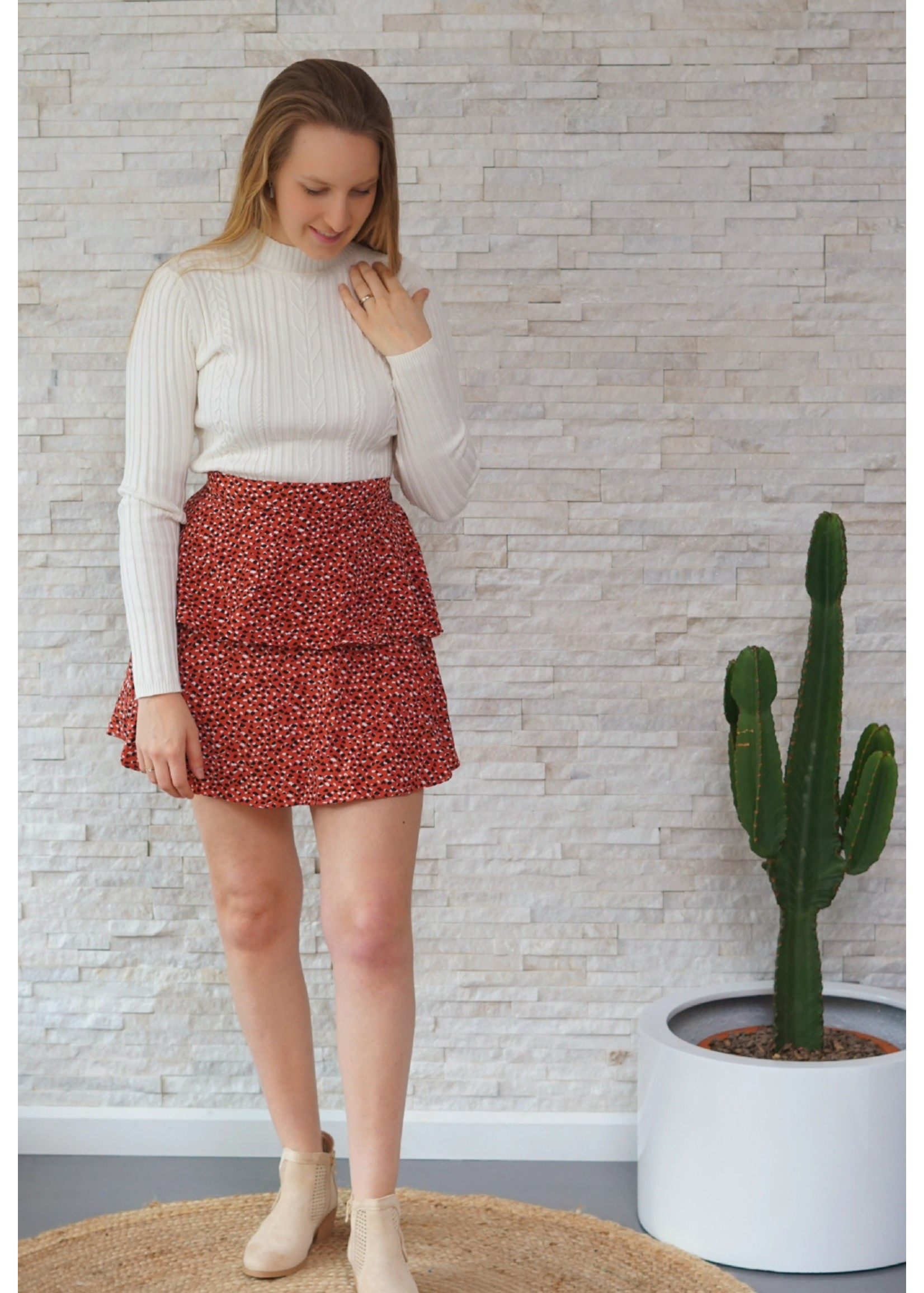 Lofty Manner Skirt pink black