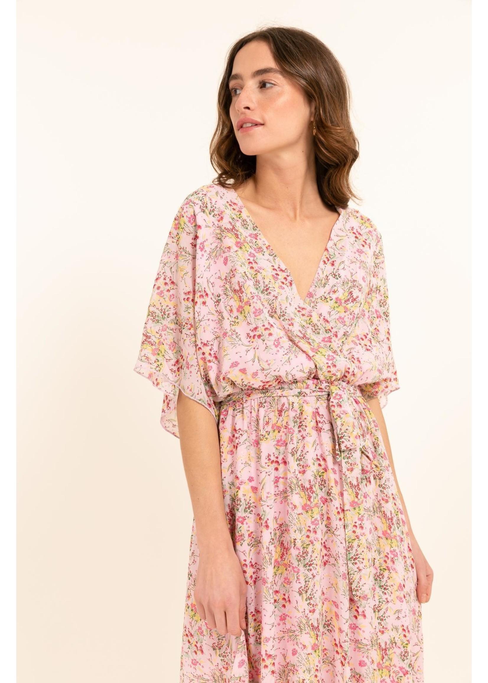 Cherry Paris Officiel Cherry pink flower dress
