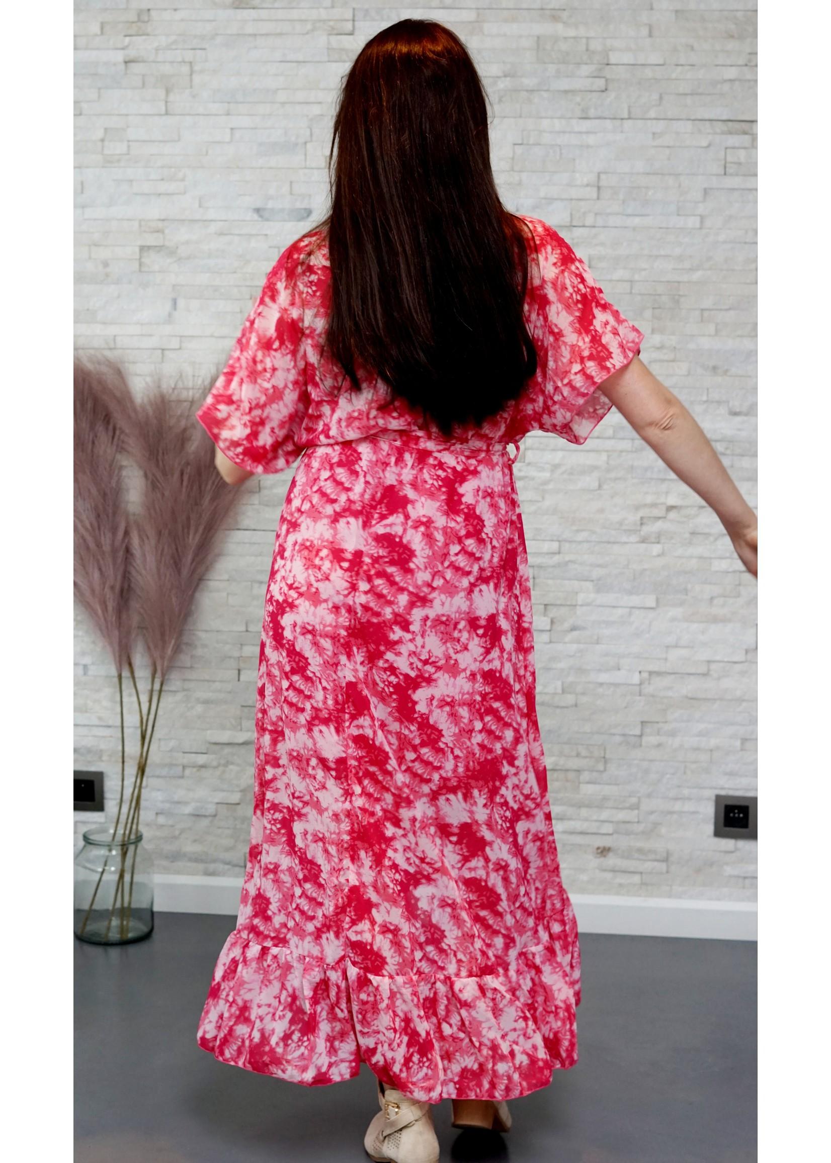 Cherry Paris Officiel Cherry pink tie dye dress
