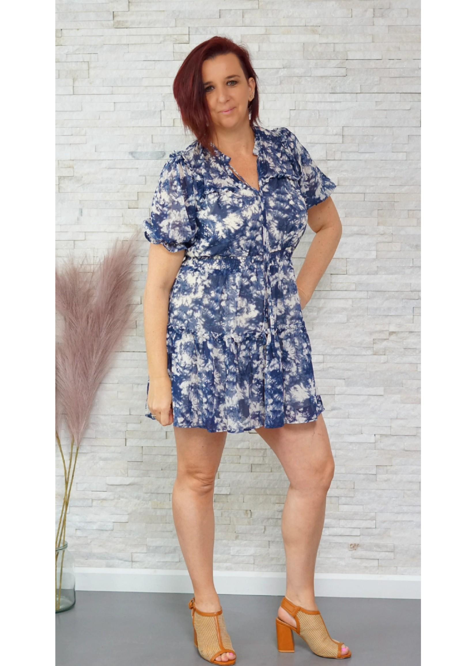 Cherry Paris Officiel Cherry blue tie dye dress