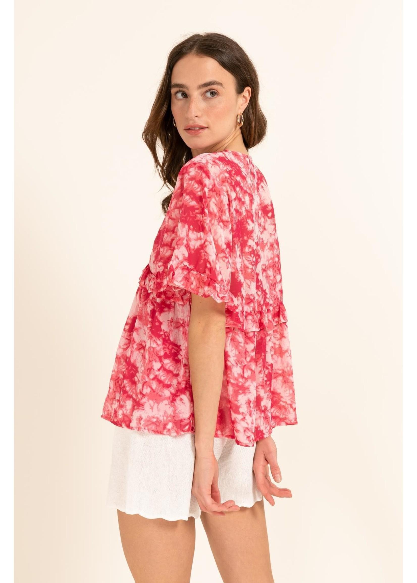 Cherry Paris Officiel Cherry blouse tie dye