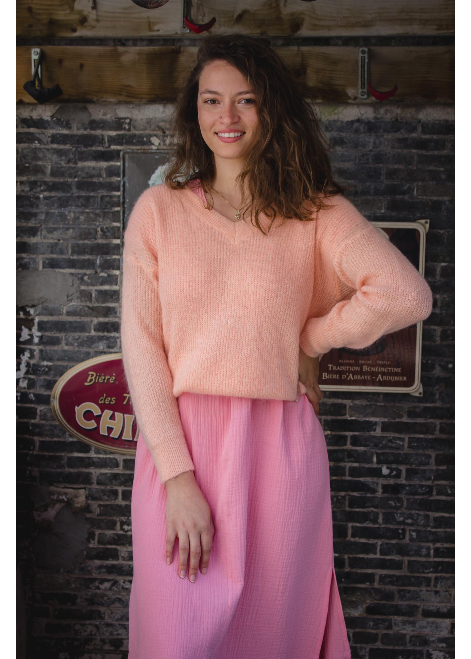 Mika Elles Peach feeling knitted sweater