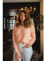 Mika Elles Peach feeling knitted sweater