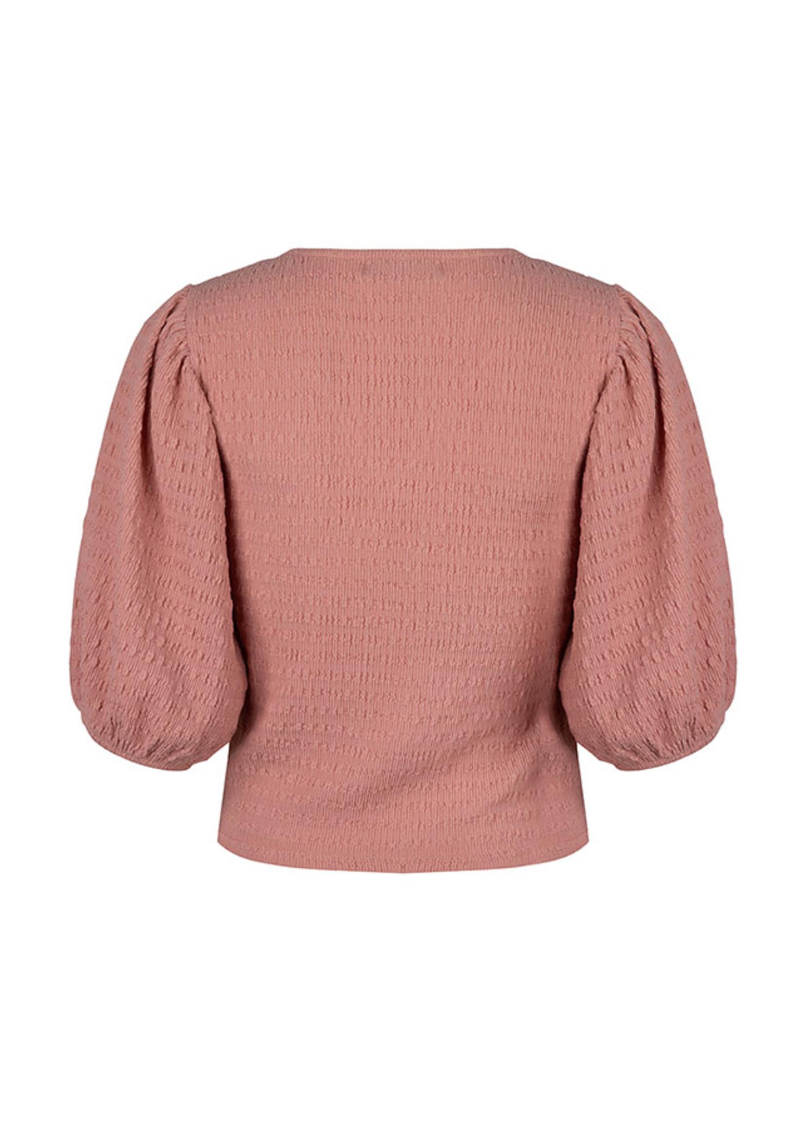 Lofty Manner Roze pofmouw top