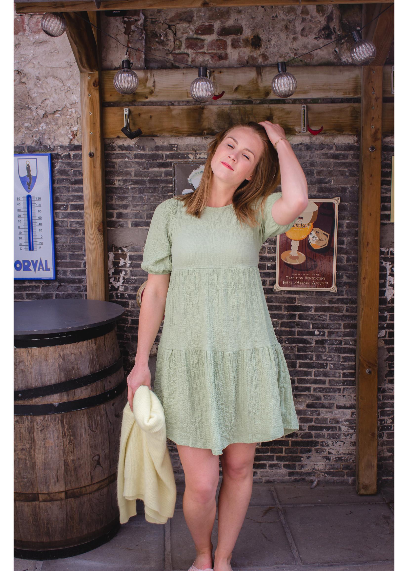 24colours Green comfy dress