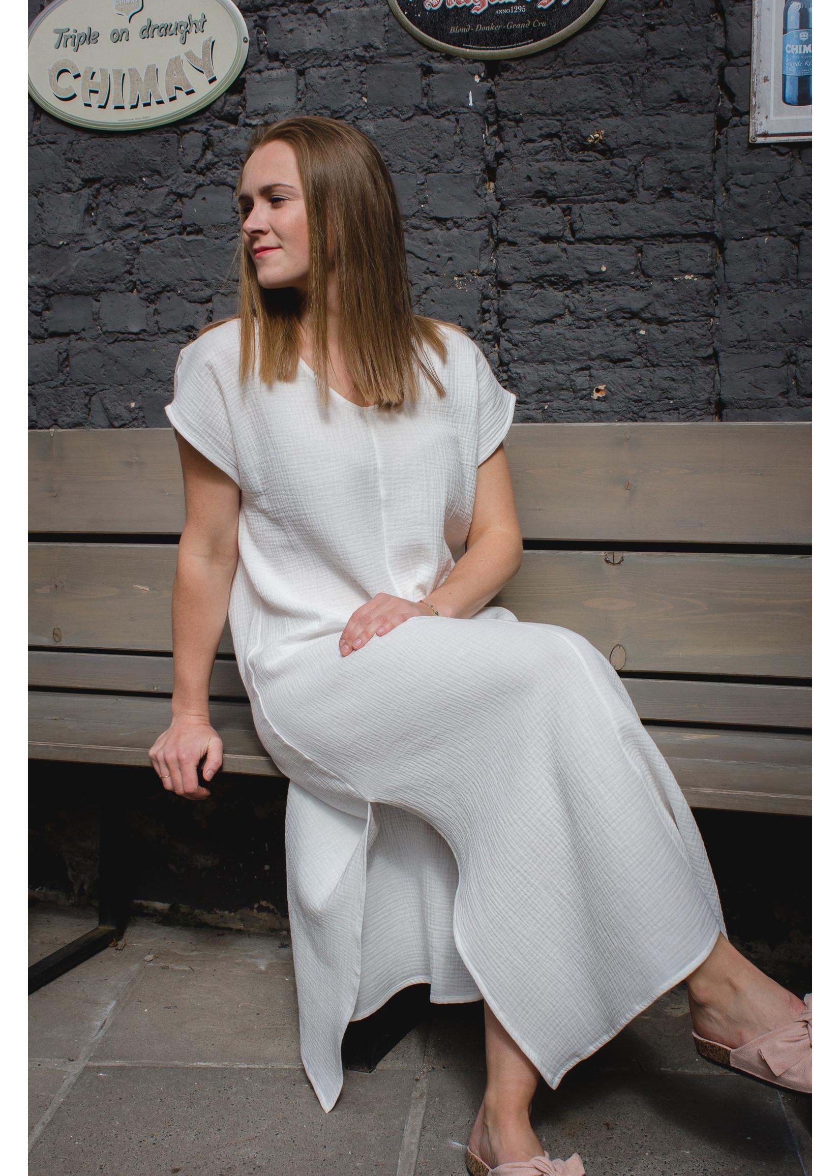 White tetra dress