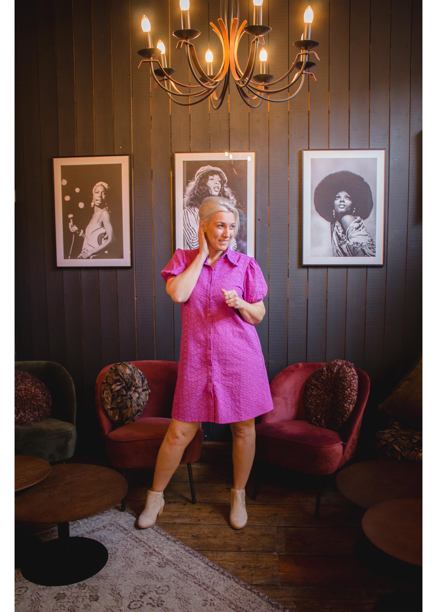 Ydence Purple lace dress