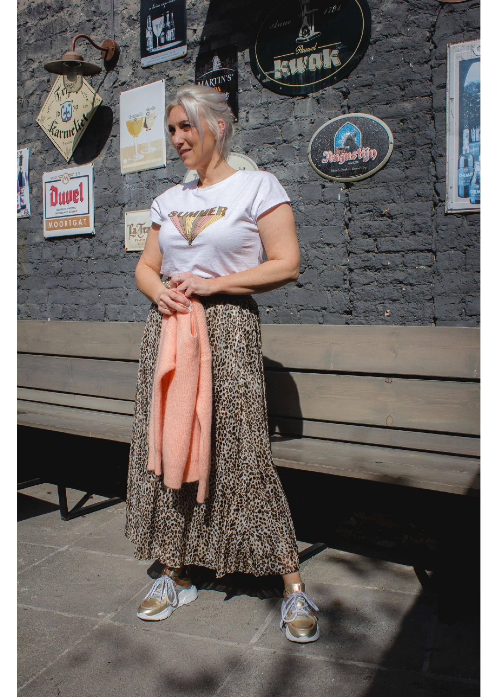 Kaffe Maxi rok leopard beige
